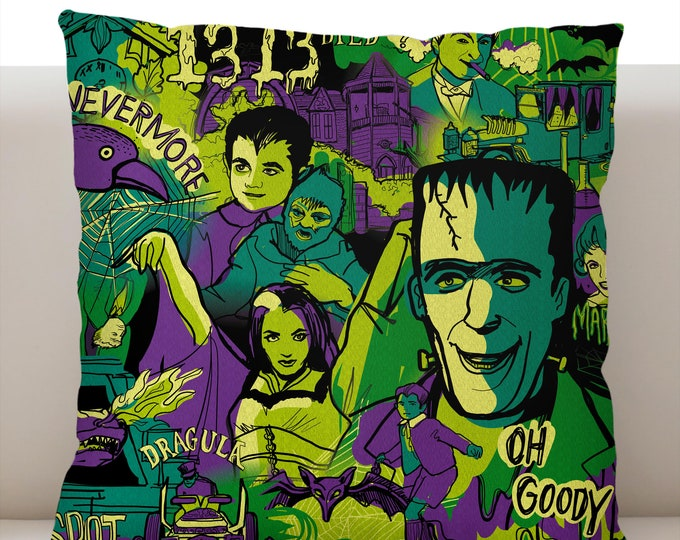 The Munsters Pillow Cover