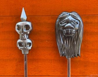 Tiki Safari Sculpted Metal Swizzle Stick Set