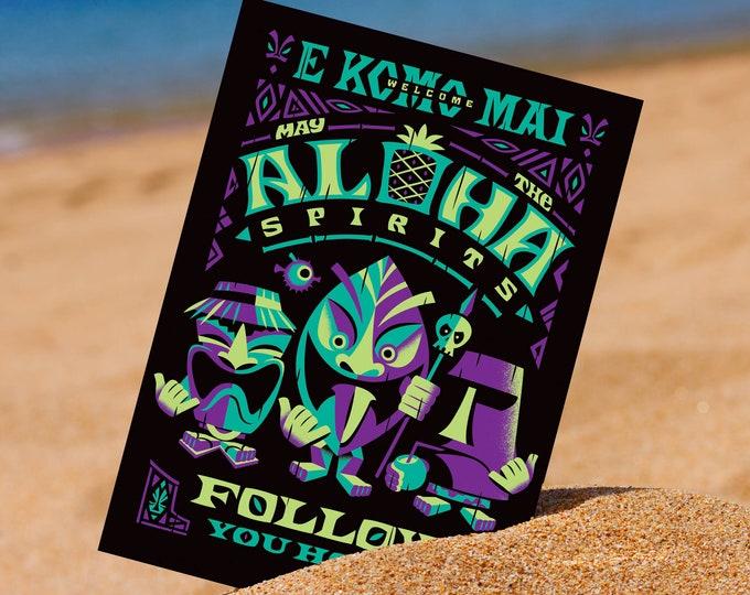 Aloha Spirits Purple Mini Print