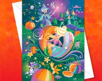 Pumpkin Carriage Greeting Card