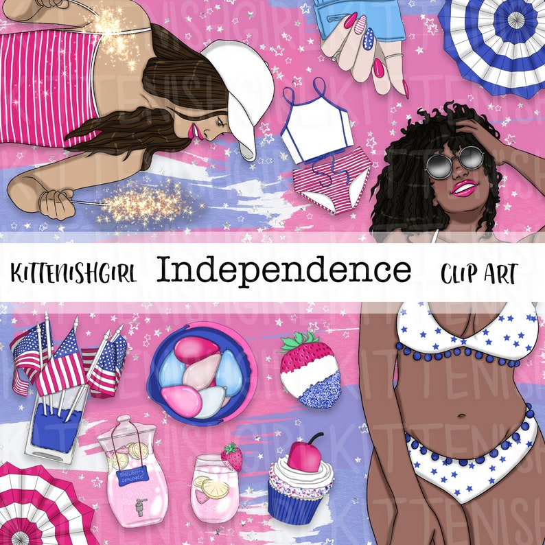 Independence CLIP ART Summer 4th July America USA Pool Party image 0