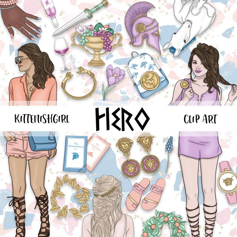 Hero CLIP ART Hercules Herakles Greek Roman Mythology Classics image 0