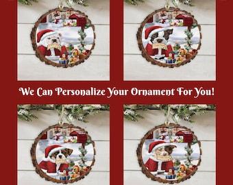 Biewer Christmas Dog Cat House Gathering Doily Ornament Bengal Cat,Bernedoodle Basset Hound,Bichon Frise Black Cat,Blue Heeler