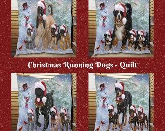 Scottish Terrier Schnauzer Christmas Running Dog  Heart Ornament Rhodesian Ridgeback Rottweiler Saint Bernard Samoyed Pugs