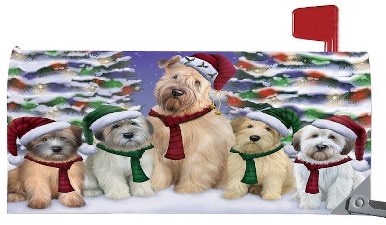 Christmas Family Portrait Mailbox Covers,Vizsla Yorkshire Terrier Weimaraner Wheaton Terrier Wire Fox Terrier West Highland Terrier