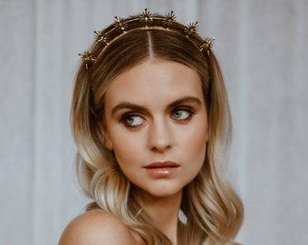 Gold Bridal Hair Accessories, Celestial wedding Accessory, Star Headpiece, Boho bridal headband, Bohemian wedding crown, Silver bridal halo
