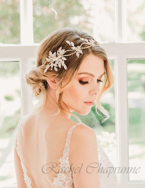 Gatsby bridal headband 1920 bridal headpiece Wedding halo  9bf42f6ea83