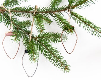 Stained glass Christmas ornaments, Christmas hanging suncatchers, Scandinavian Primitive, Textured glass bulb decorations