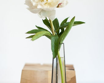 Stained glass vase, Simple modern, Scandinavian Primitive, Stained glass indoor planter, Christmas centerpiece for table, Minimalistic decor