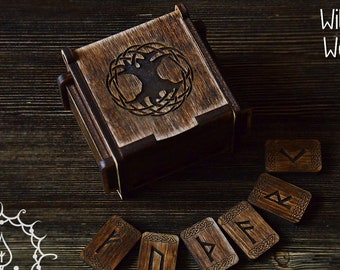 Anglo-Saxon wooden rune set