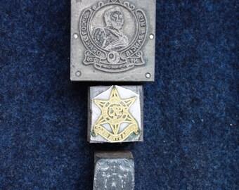 Vintage Letterpress Blocks, Printing Blocks, Secret Society Printing Blocks