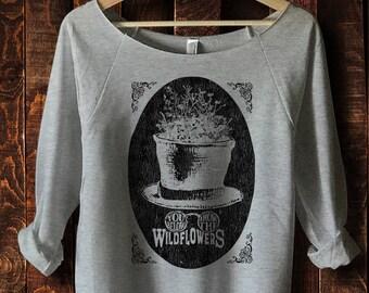 Tom Petty Shirt, You Belong Among The Wildflowers, Women's 3/4 length sleeve, Off the Shoulder Top, Tom Petty Wildflowers, Pinkrobotshirts
