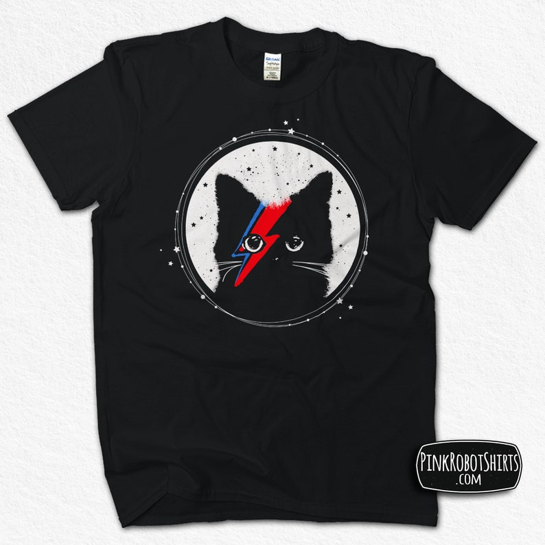 0c9c5d45b04 Ziggy Stardust Cat Shirt David Bowie T-shirt for Men Women