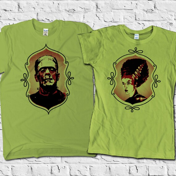 Frankenstein Shirt Bride Of Frankenstein Matching Couples Etsy