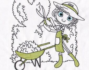 Swirly Garden Girl 3