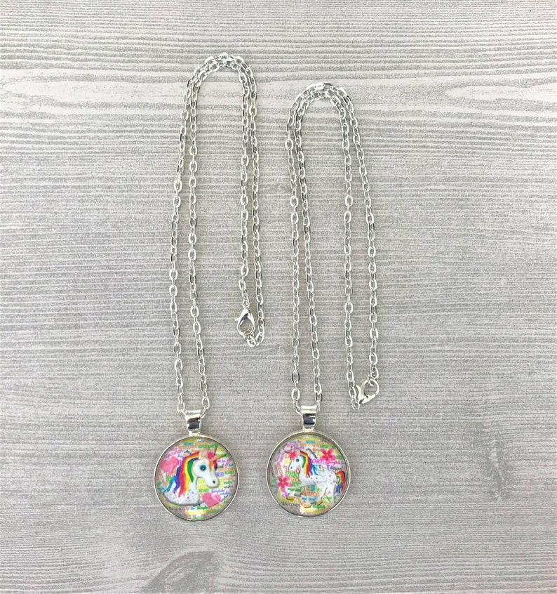 Unicorn,Unicorn Necklace,Necklace,Silver Necklace,Gift,Pendant,18 Inch Necklace,Handmade,Party Favor,Girls Necklace,Birthday