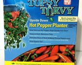 Topsy Turvy Pepper Planter lot of 2