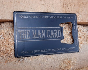 The Man Card Bottle Opener Business Card Size