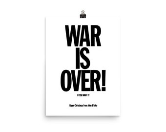 Typography Print War Is Over Digital Print War Is Over Art Print War Is Over Wall Art John Lennon Quote Print Black /& White