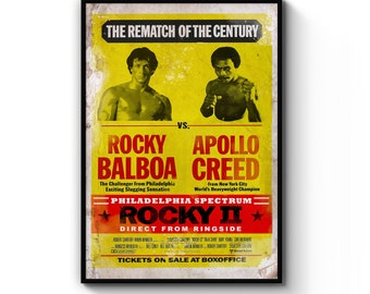A4 A3 A2 A1 A0| Creed 2 Boxing Movie Poster Print T1316