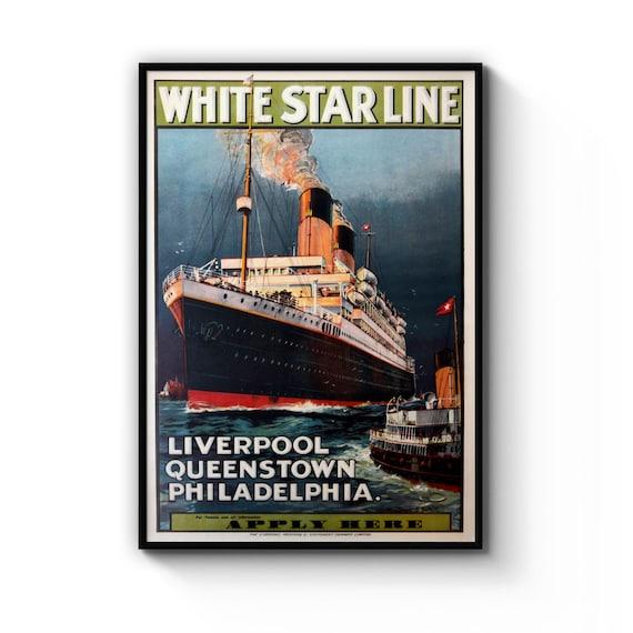 A2 Print Vintage Sweden UK Cruise Line Poster A3