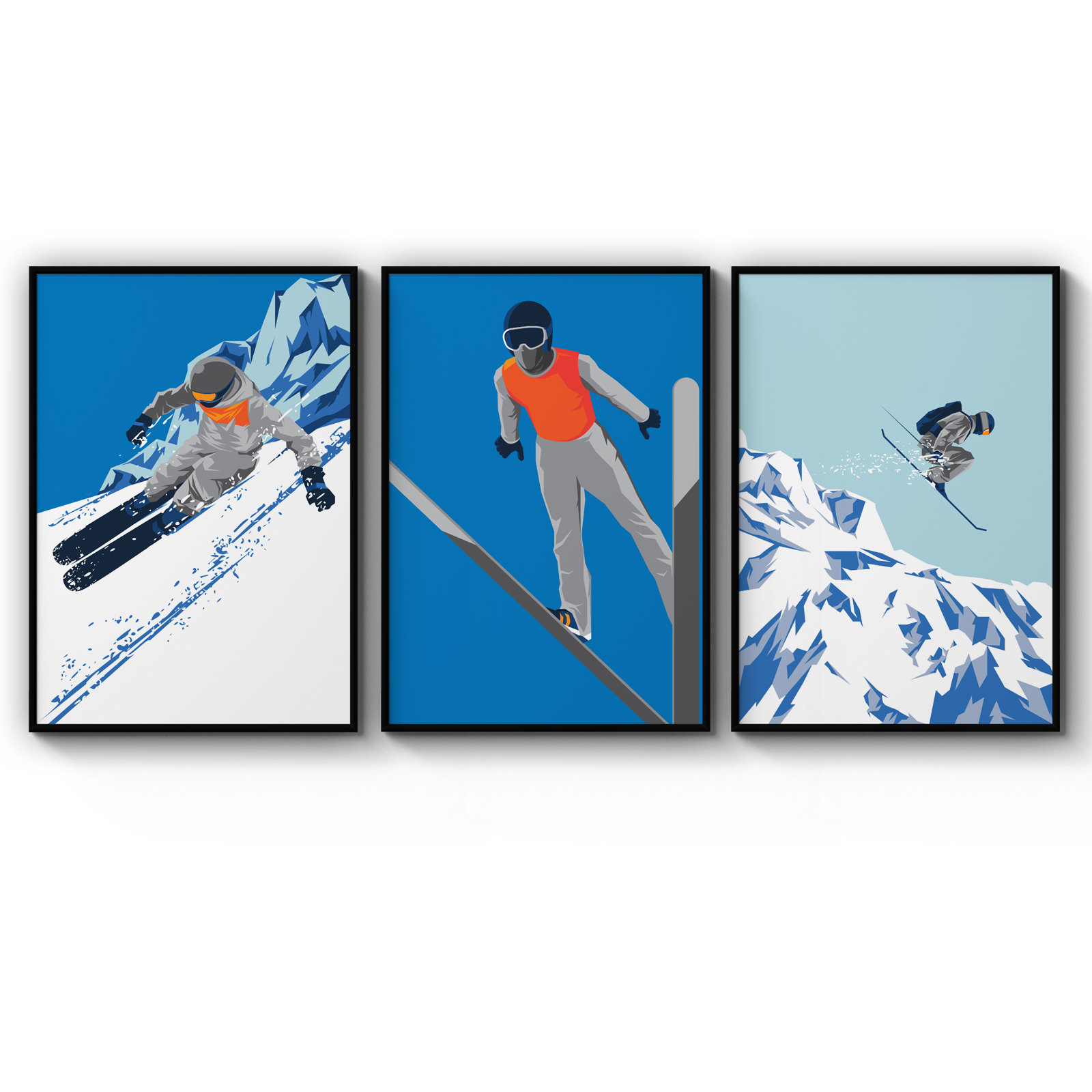 Vintage Travel Poster Classic Canadian Skiing A1,a2,a3,a4 Sizes