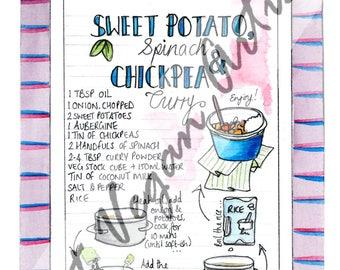 Sweet Potato Curry Recipe Card