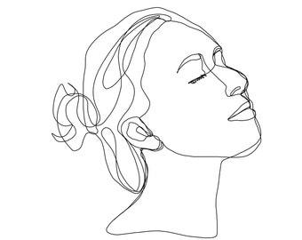 customized portrait line drawing