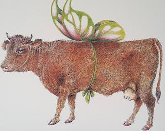 Dairy Fairy Cow Card