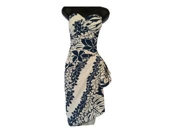 ee918aec876f6 50s Hawaiian Sarong Dress Kalani - Customize Style, Measurements, or Fabric  -Rockabilly Pin Up