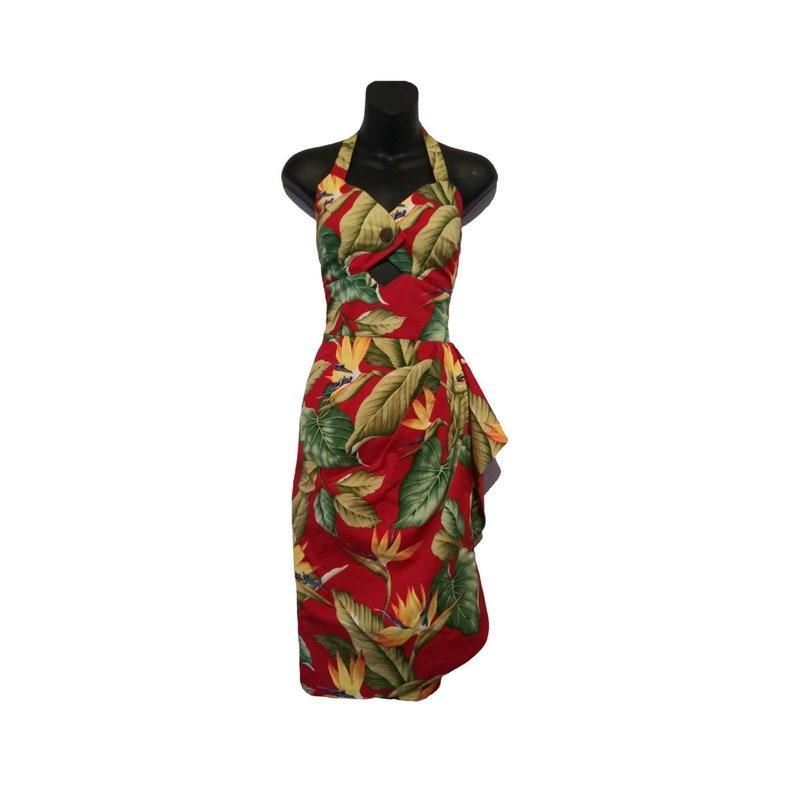 Plus Size 50s Hawaiian Sarong Wrap Dress Customize Style | Etsy