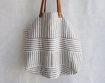 394dd3ded6 Borsa in tessuto, borse fatte a mano, borsa a spalla, borsa da donna, borsa  a righe, borsa da spiaggia, borsa mare, borsa a spalla