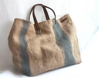 32cbd99744 Borsa in juta, borse fatte a mano, borse in tessuto, borsa a mano, borse da  donna, borsa dipinta a mano, borsa da spiaggia, borsa da mare