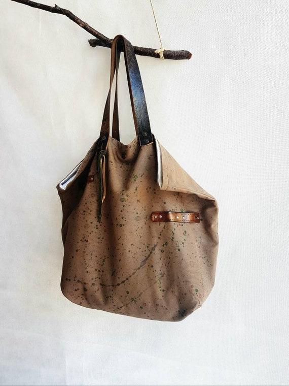 nuovo stile 6a738 a9671 Borsa in tessuto, borse fatte a mano, borsa a spalla, borsa da donna, borsa  dipinta a mano, borsa estiva, borsa di cotone, borsa fantasia
