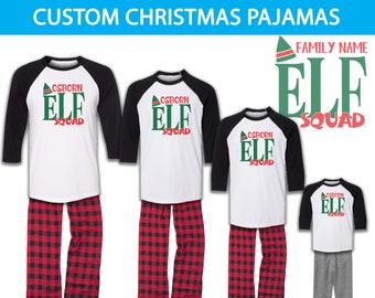 Elf Squad Family Pajamas 007014eda