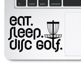 Eat Sleep Disc Golf, Frisbee Golf Decal, Frolf Decal, Folf Decal