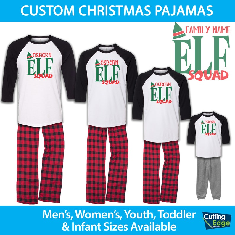 41a010eef51c Elf Squad Family Pajamas Family Christmas Pajamas Infant