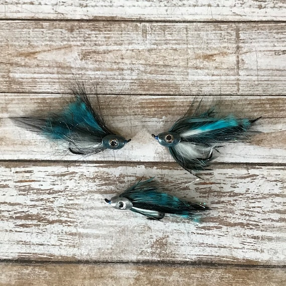 Chartreuse Sculpin Set of 3 Steelhead Streamers Steelhead Flies Salmon Flies Steelhead Fly Patterns Size #4 Hook