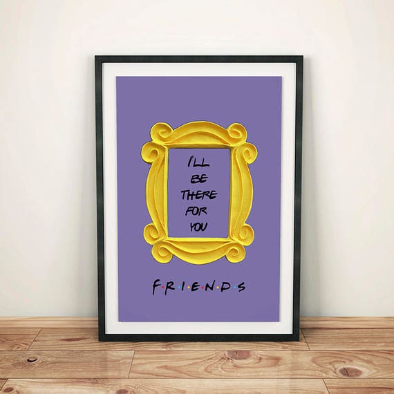 Friends Tv Show Printable Poster Friends Peephole Frame Etsy