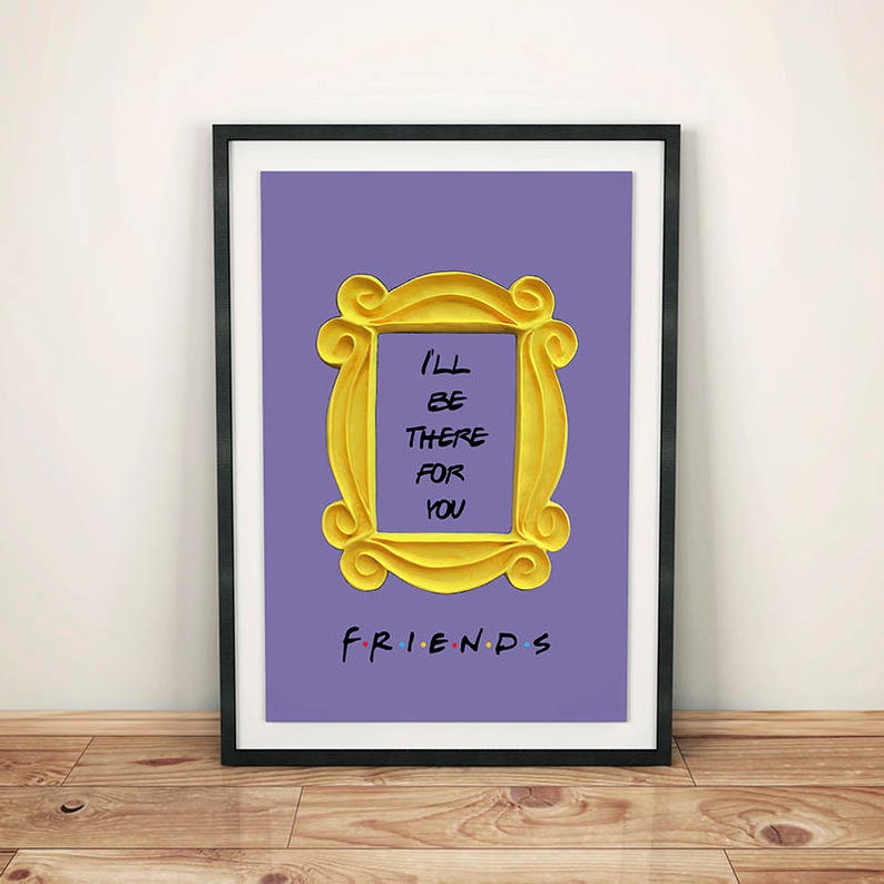 picture relating to Picture Frame Printable identify Mates television present printable poster mates peephole body good friends doorway body marco buddies body wall decor ideal buddy present