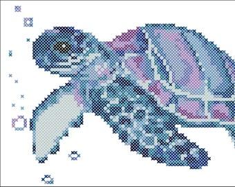 Turtle amphibian Tortilla Cross stitch pattern PDF Instant Download