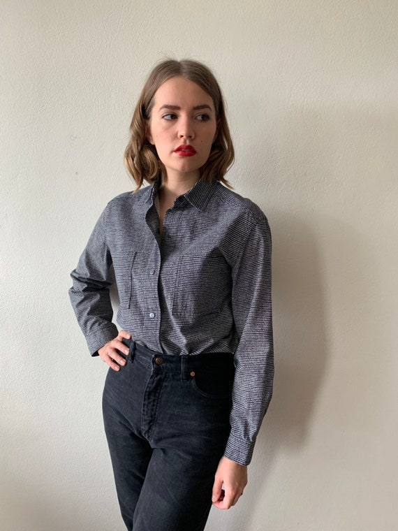 Vintage Vuokko button up shirt / blouse / minimali