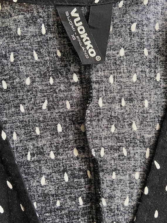 Vuokko kimono jacket / black and white printed co… - image 6