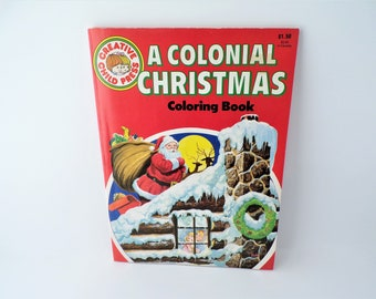 Christmas Coloring Book Vintage