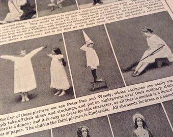 Nostalgic 1911 Costumes Antique Book Print