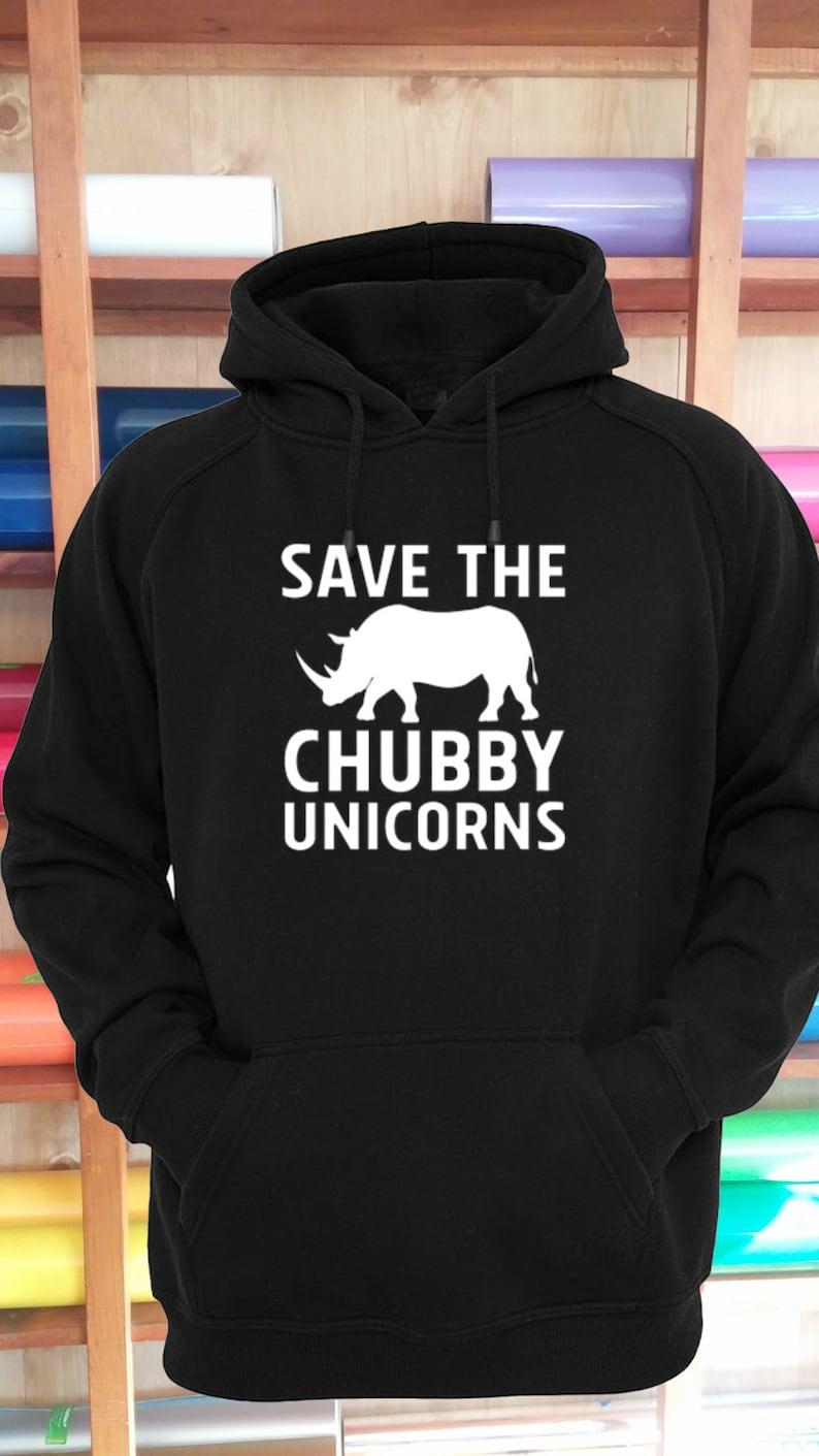 ee3c7426d Save The Chubby Unicorns Hoodie Sweatshirt Shirt Unisex S-5XL   Etsy