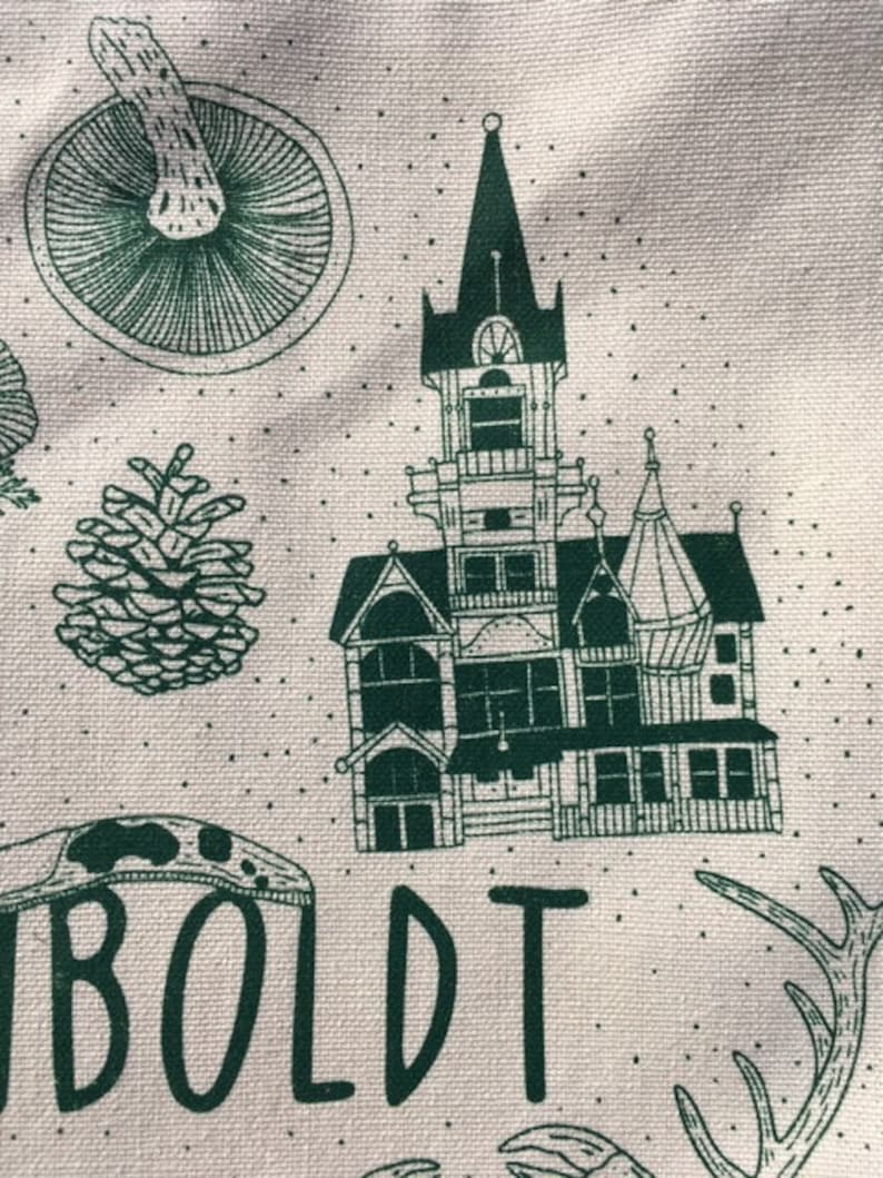 Illustrated Tote Bag Printed Tote Bag Canvas Tote Humboldt Tote Bag Farmer/'s Market Bag