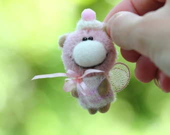 Micro teddy bear - OOAK Collectible Miniature teddy bear - 1.8 inch - Doll's friend
