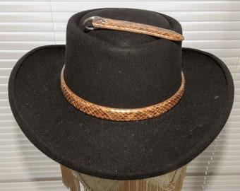 d37ab9f1cb2e9 Gold Bronze Metallic Genuine SNAKESKIN Hatband Hat Band   keychain Woman  Man Unisex Cowboy Cowgirl Rodeo Western