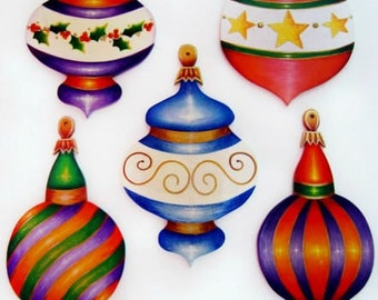 377 S Package Of 5 Elegant Ornaments Painting Packet Etsy